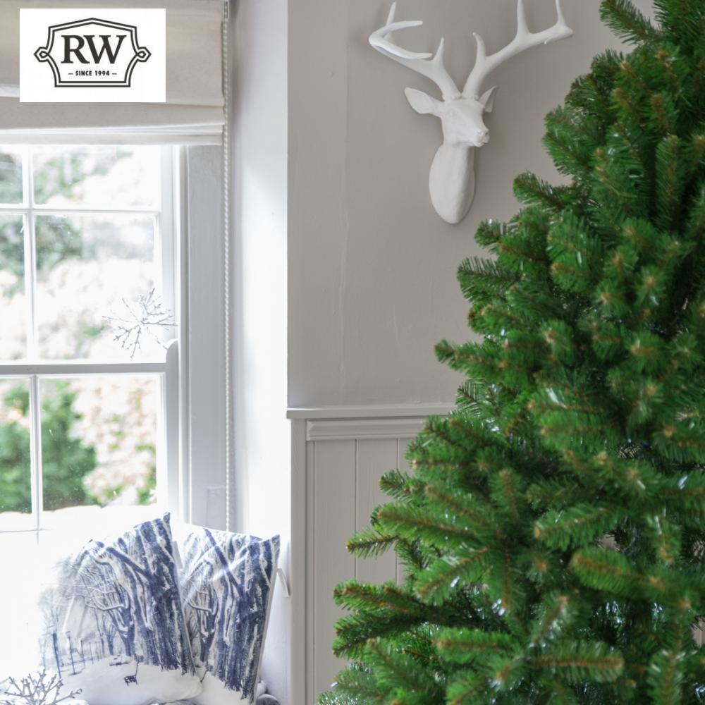 8ft Premium Evergreen Full Artificial Christmas Tree ...