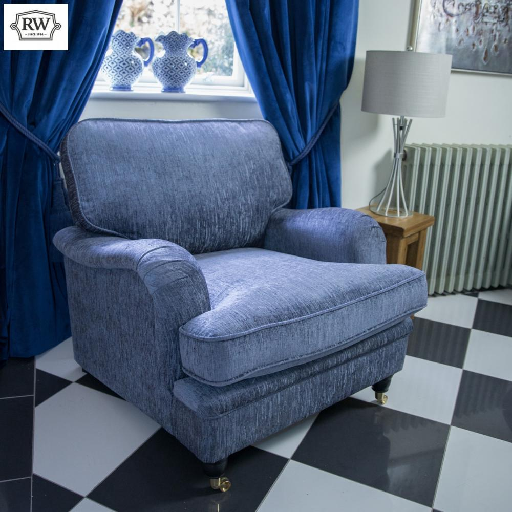 Balmoral Armchair - Grey Fabric - Rathwood