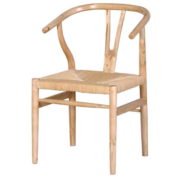 Antique Oak Open Back Chair