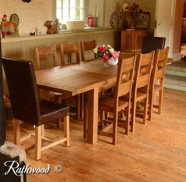 fitzwilliam 6ft oak extending dining table - rathwood 6ft Dining Table