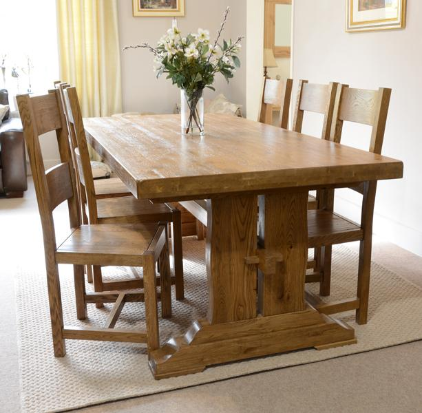 oak dining table. Fitzwilliam 7ft Oak Dining Table A