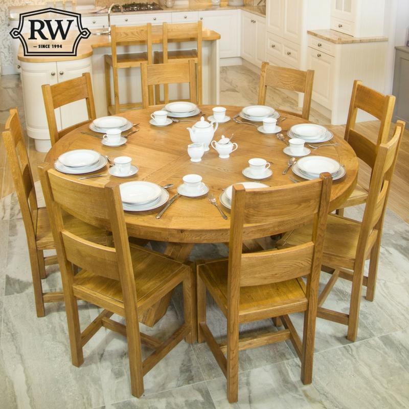 Fitzwilliam Oak 1 7m Round Table