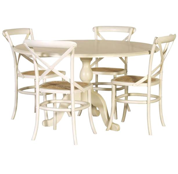 french chic round dining table cream rathwood