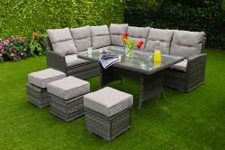 Amalfi casual sofa dining set
