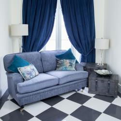 Warehouse clearance balmoral 2 seater grey fabric