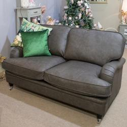 Balmoral 2 seater grey leather