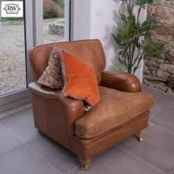 Balmoral vintage armchair brown leather