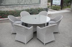 Porto 6 seater round dining set