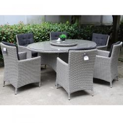 Berkeley oval 6 seater round set