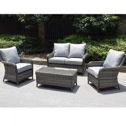 Boston 2 seater coffee set dark grey