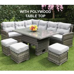 Boston adjustable casual set polywood dark grey