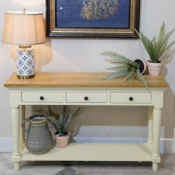 Bramley cream painted console table