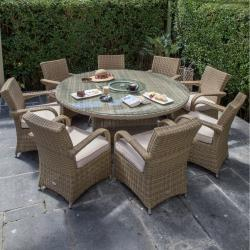 Chester 8 seater round set