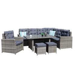 Chicago corner dining set with arm chair