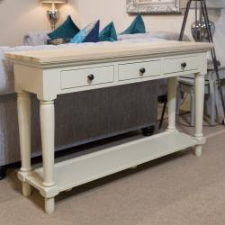 Clifton grey painted console table