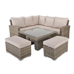 Chester corner sofa set with square rising table