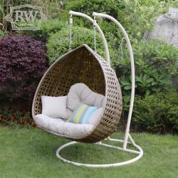 Double pod hanging chair natural