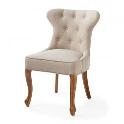 George dining chair linen flax