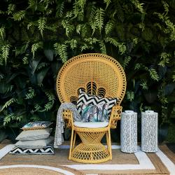 Greenport peacock chair yellow