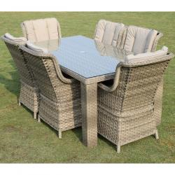 Hampton 6 seater rectangle set