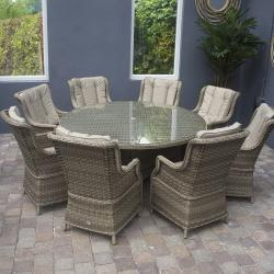 Hampton 8 seater round set