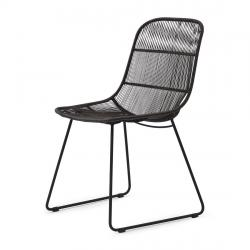 Hartford outdoor dining chair espresso lava