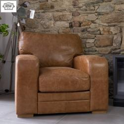 Hudson armchair brown leather