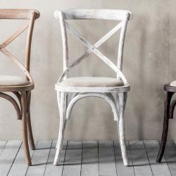 Industrial cafe chair white