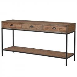 Industrial 3 drawer console table