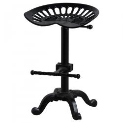 Industrial adjustable tractor seat stool black