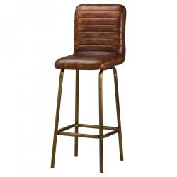 Industrial billy leather bar stool