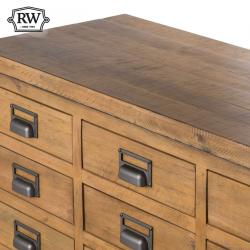 Industrial draftsman 20 drawer merchant chest