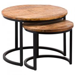 Industrial set of 2 tables