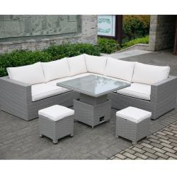 Madrid casual dining corner set w adjustable table