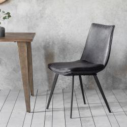 Modern hinks dining chair grey