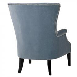 Modern blue studded occasional chair