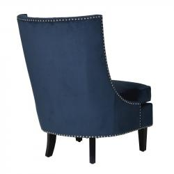 Peacock occasional chair with silver studs