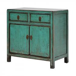 Peacock turquoise small 2 door cupboard