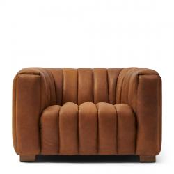 Pulitzer armchair leather cognac