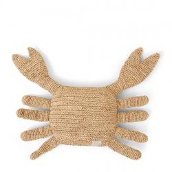 Raffia crab pillow