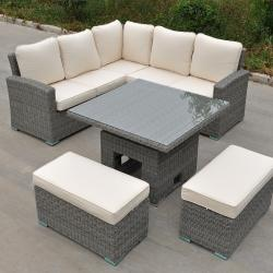 Rw corner rising dining set deluxe grey