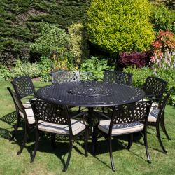 Seafield 8 seater round set