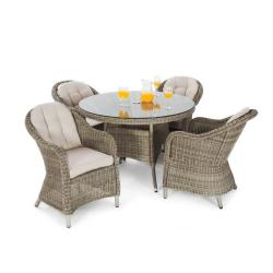Sepino 4 seater round set natural