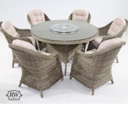 Sepino 6 seater round set natural