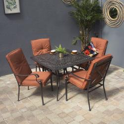 Texas 4 seater square set with houston chair