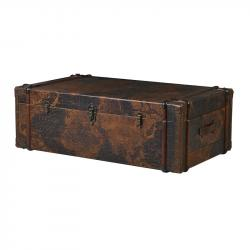 Trunk world map coffee table