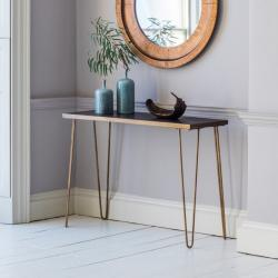 Urban metallic console table