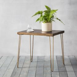 Urban metallic side table
