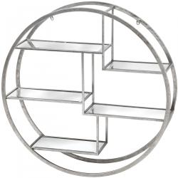 Urban circular silver wall multi shelf