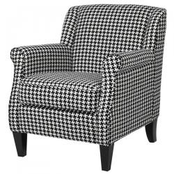 Urban houndstooth occasional chair